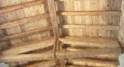 Copertura con legno di recupero