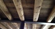travature e tavole in abete con ronpitratta in portrella HEA in ferro
