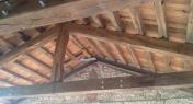 travature  e tavolato in rovere creato da vecchie travature (2° Pattina)