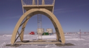 Torretta di ispezione realizzata al Polo Sud
